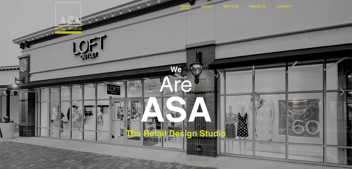 Website Design for ASA Retail Studio